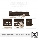 "Super Modular Rail MK4 MLOK, 9.5"", Black"