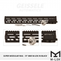 "Super Modular Rail MK8 M-LOK, 15"", Black"